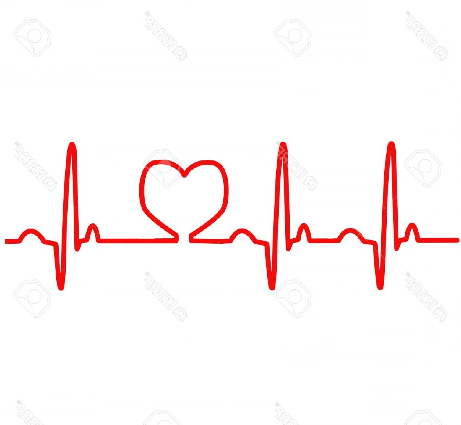 1560x1436 Red Heart Ekg Clipart