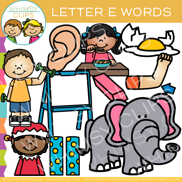 600x600 Letter E Alphabet Clip Art , Images Amp Illustrations Whimsy Clips