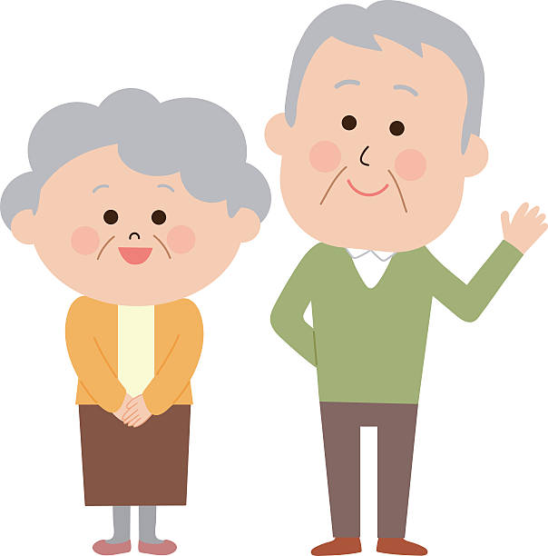 604x612 Couple Clipart Old Couple