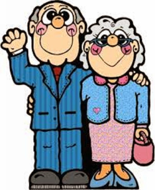 500x610 Old Clipart Old Couple