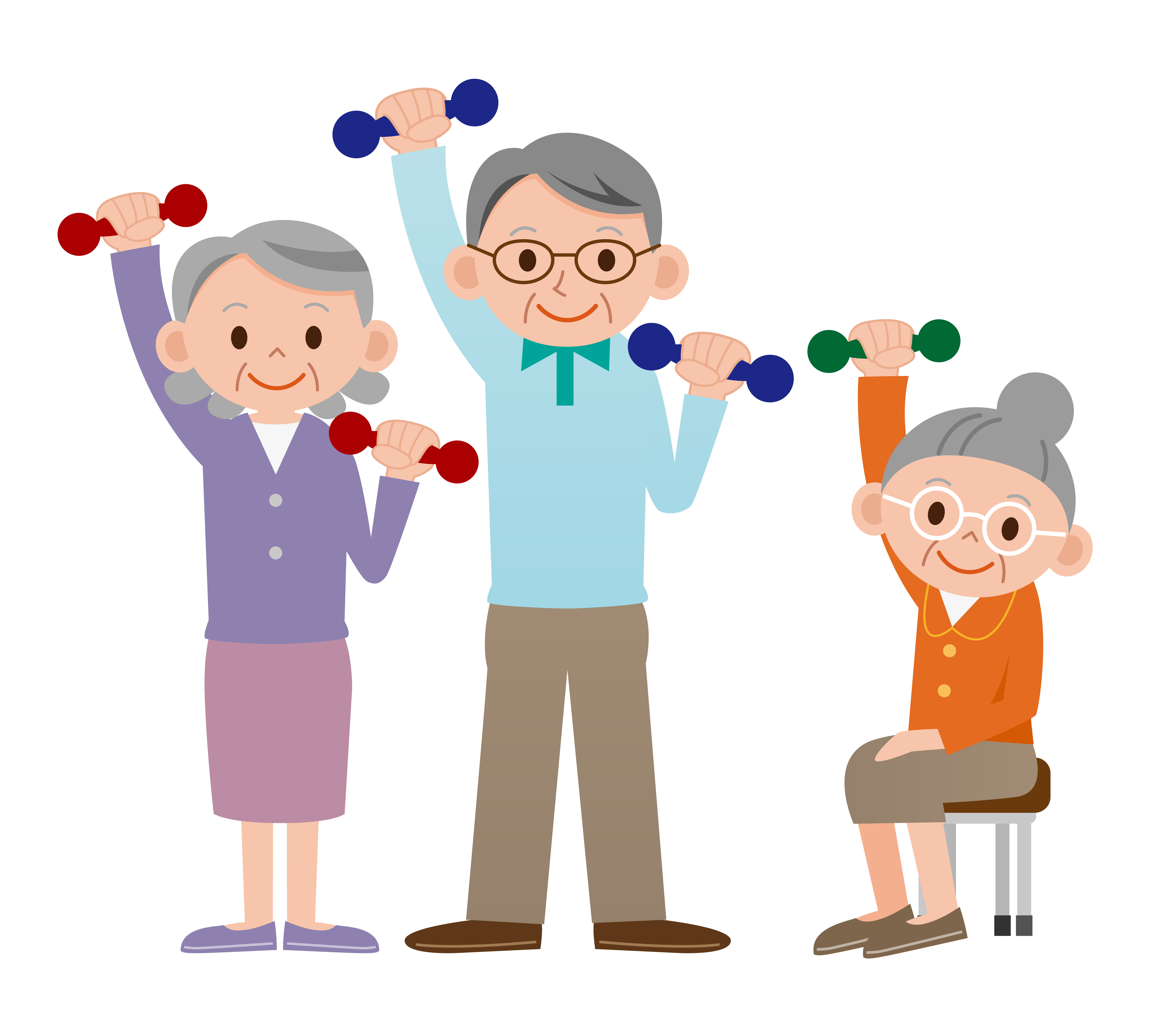 5000x4500 Elderly Exercise Clip Art Clipart