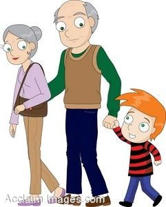 241x300 Grandparents Elderly Clipart Teaching Lds Children Image