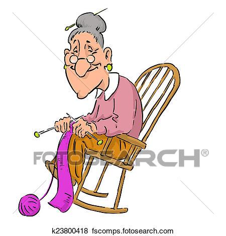 450x470 Stock Illustration Of Nice Elderly Grandma K23800418