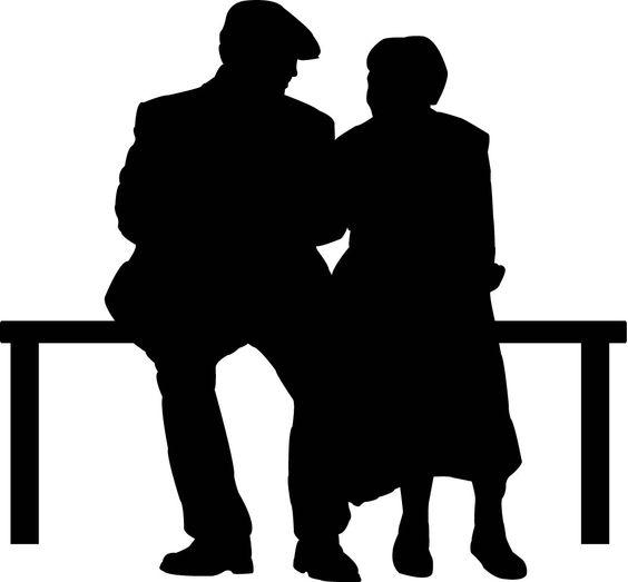 564x523 Silhouette Elderly