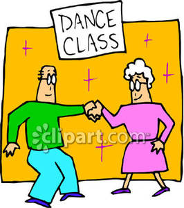 266x300 Elderly Couple Dancing Together While Taking A Class Royalty Free