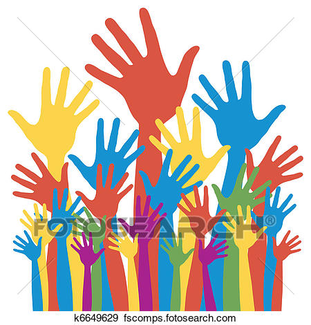 450x470 Clip Art Of General Election Voting Hands. K6649629