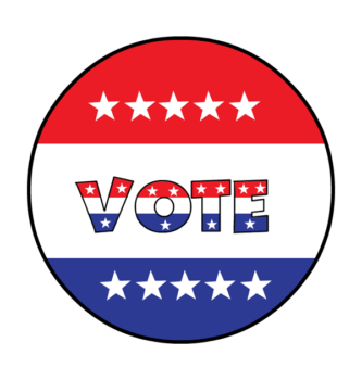 333x350 Clip Art Election Election Day Clipart