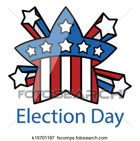 450x453 Clip Art Of Election Day Retro Celebration Star K15701187