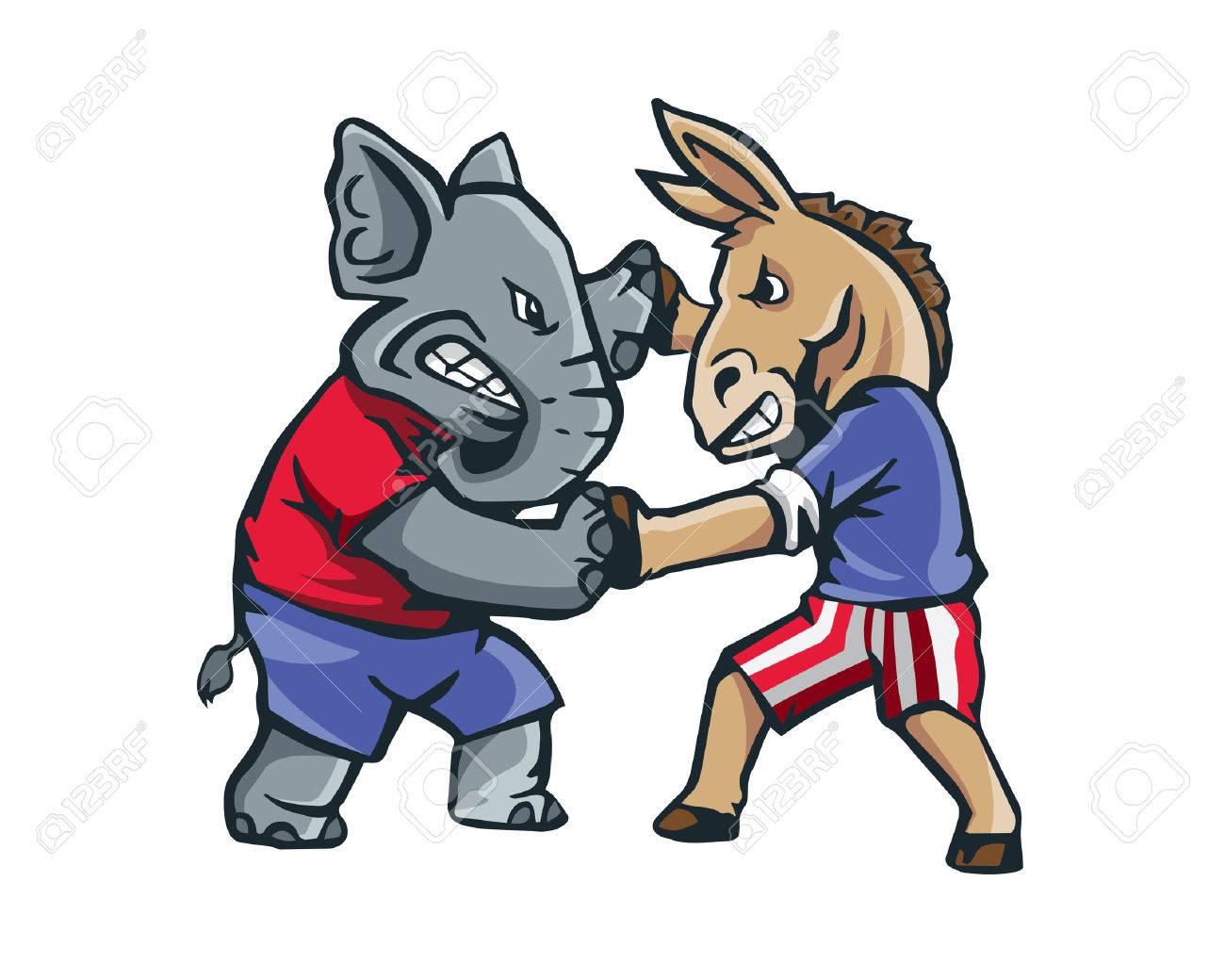 1300x1040 Usa Democrat Vs Republican Election 2016 Cartoon