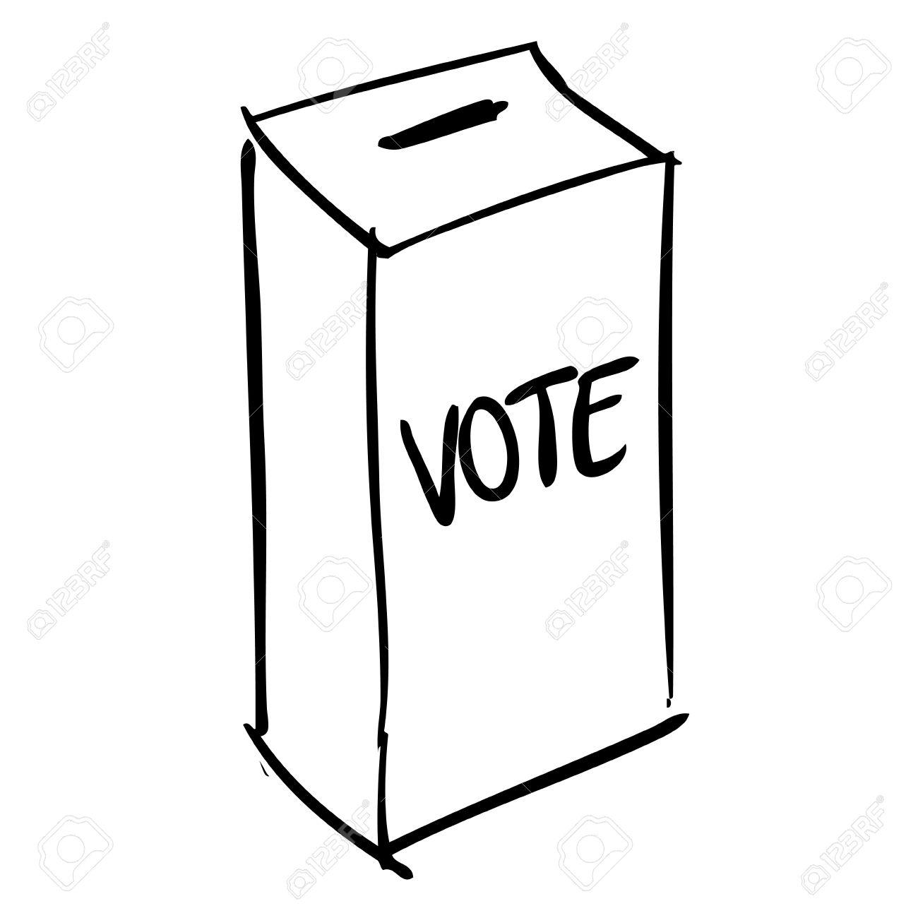 1300x1300 Vote Box Election Box Doodle Royalty Free Cliparts, Vectors,