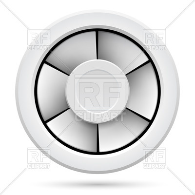 400x400 Electric Fan (Domestic Ventilator) Royalty Free Vector Clip Art