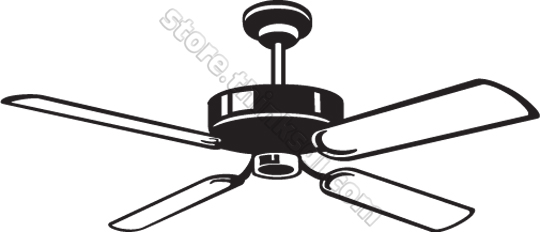 540x232 Fan Black And White Clipart