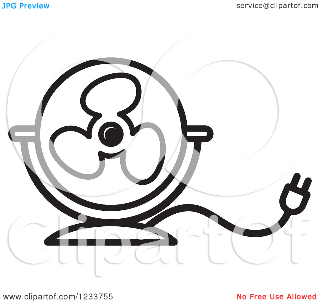 1080x1024 Fan Black And White Clipart