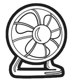232x263 Fan Drawing