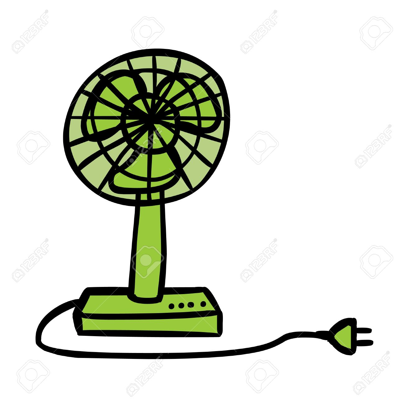 1269x1300 Represent An Electric Green Fan Cartoon Royalty Free Cliparts