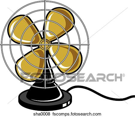 450x391 Stock Illustration Of Electric Fan Sha0008
