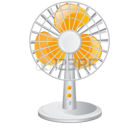 450x421 Vector Illustration Of Electric Fan Royalty Free Cliparts, Vectors