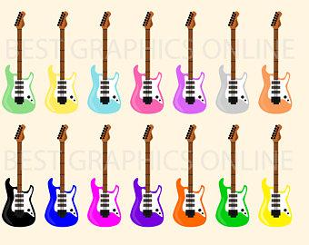 340x270 Guitar Clipart Etsy