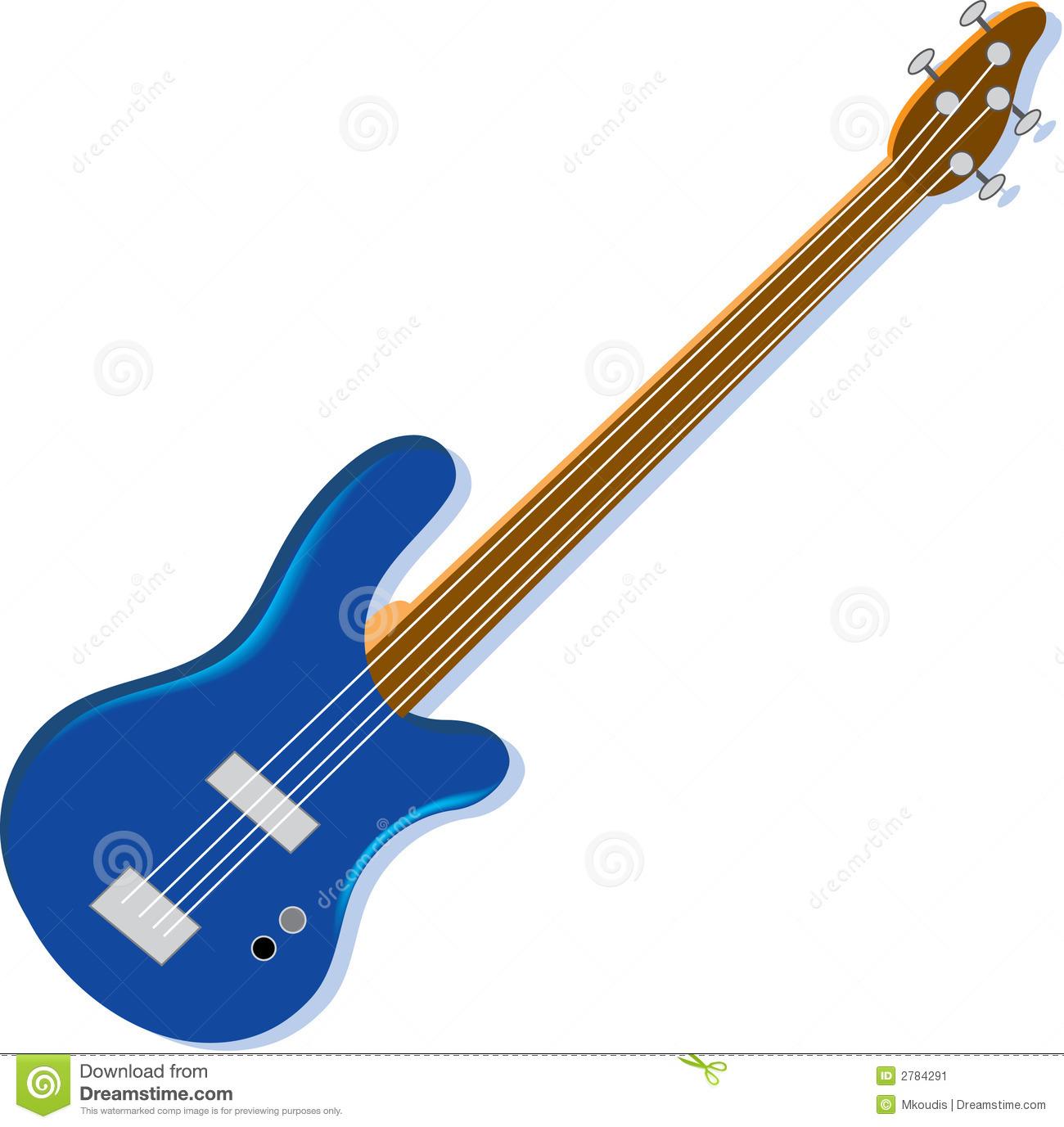 1300x1377 Blue Guitar Clipart