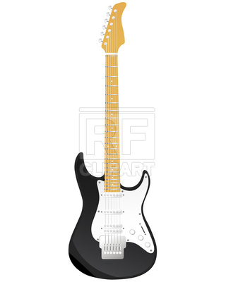 320x400 Electric Guitar Royalty Free Vector Clip Art Image
