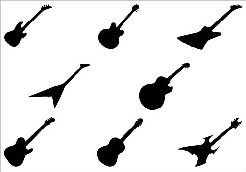 502x352 Flying V Guitar Clip Art