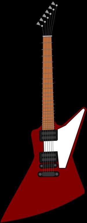 300x766 Gibson Electric Guitar Vector Clip Art