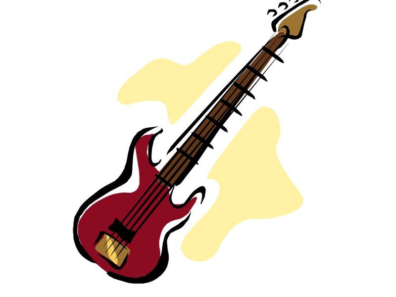 800x600 Cartoon Guitar Clipart