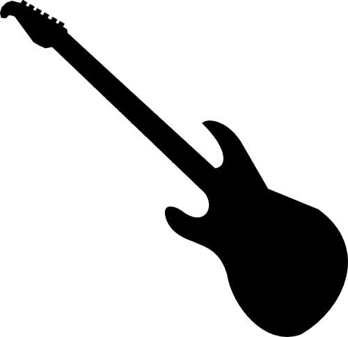 500x484 Electric Guitar Clipart Black And White Free 3