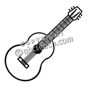300x300 Guitar Clipart Black And White
