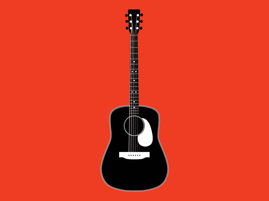 1024x765 Black And White Guitar Vector Art Amp Graphics