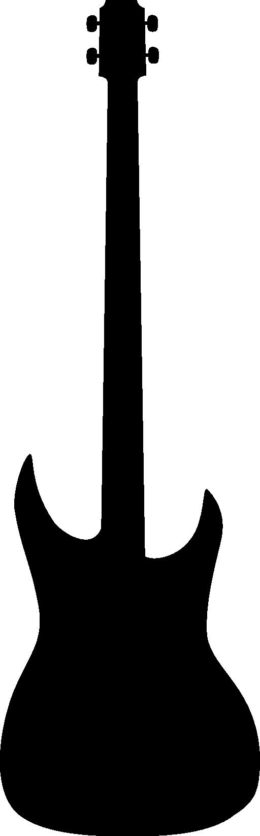 512x1645 Guitar Clipart Silhouette