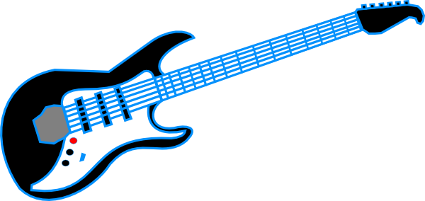 600x284 Electric Guitar Clipart Black And White Free