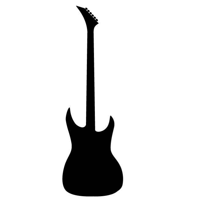 660x660 Electric Guitar Silhouette