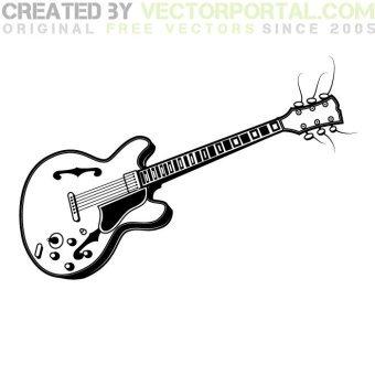 340x340 Electric Guitar Free Vector 123freevectors