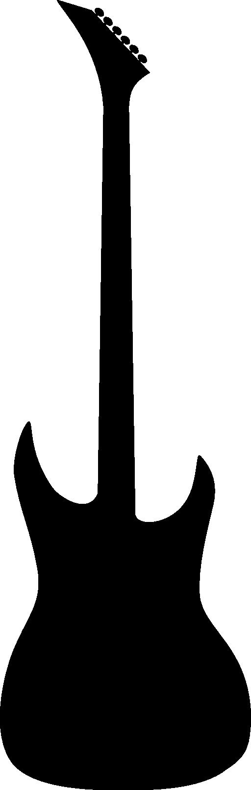 512x1612 Guitar Outline Clipart