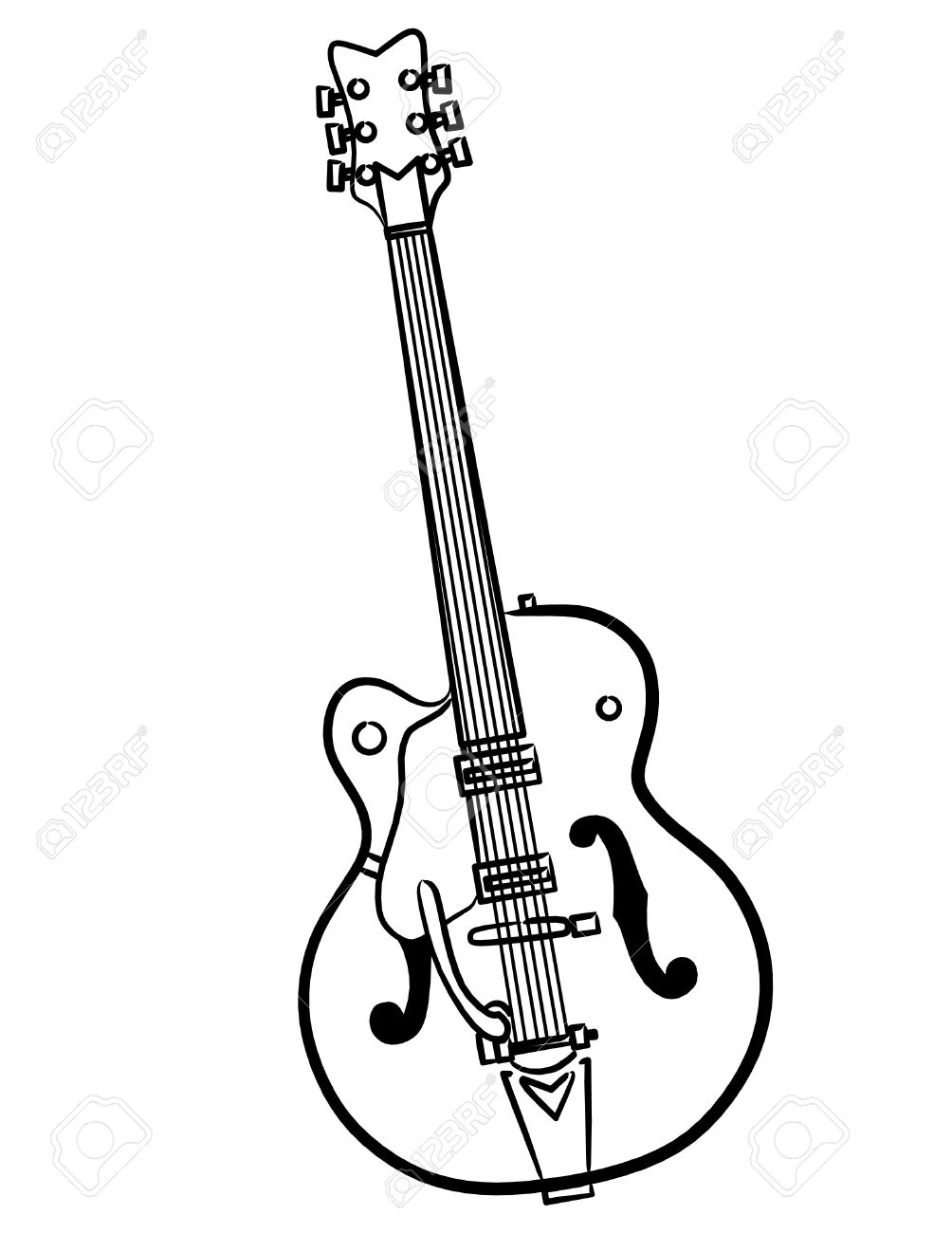 electric guitar outline
