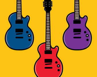 340x270 Guitar Clipart Etsy
