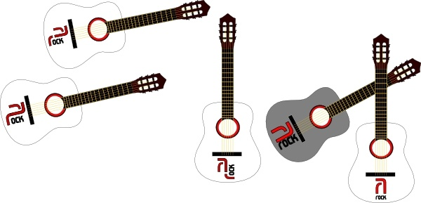 600x289 Rock Guitars Clip Art Free Vector In Open Office Drawing Svg