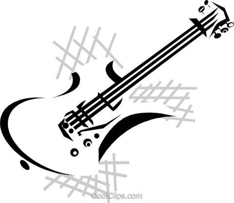 480x418 Electric Guitar Royalty Free Vector Clip Art Illustration