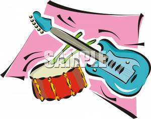 300x237 Art Image A Snare Drum And An Electric Guitar