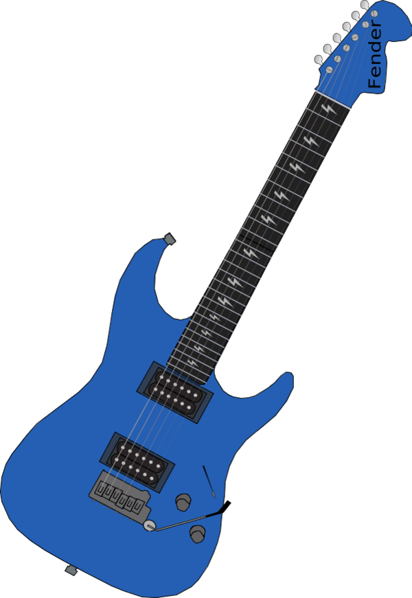 600x871 Blue Clipart Electric Guitar