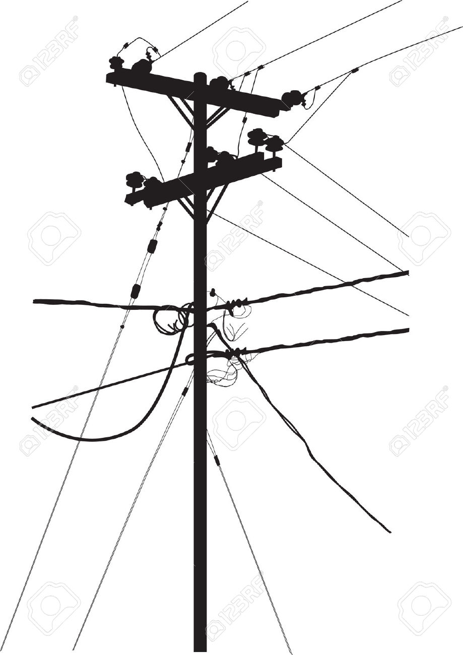 919x1300 Electricity Clipart Telephone Line