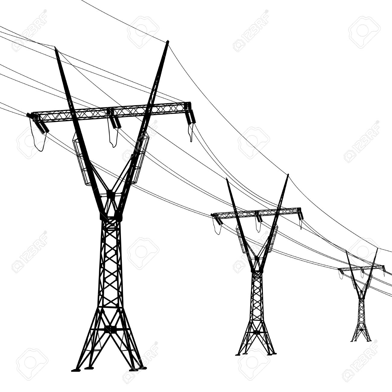 1300x1300 Power Line Clipart Electric Post