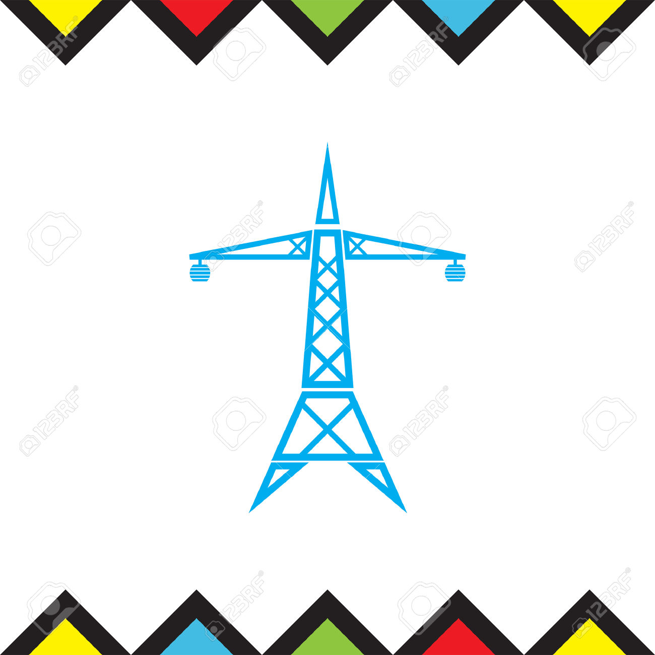 1300x1300 Power Line Clipart Electric Tower