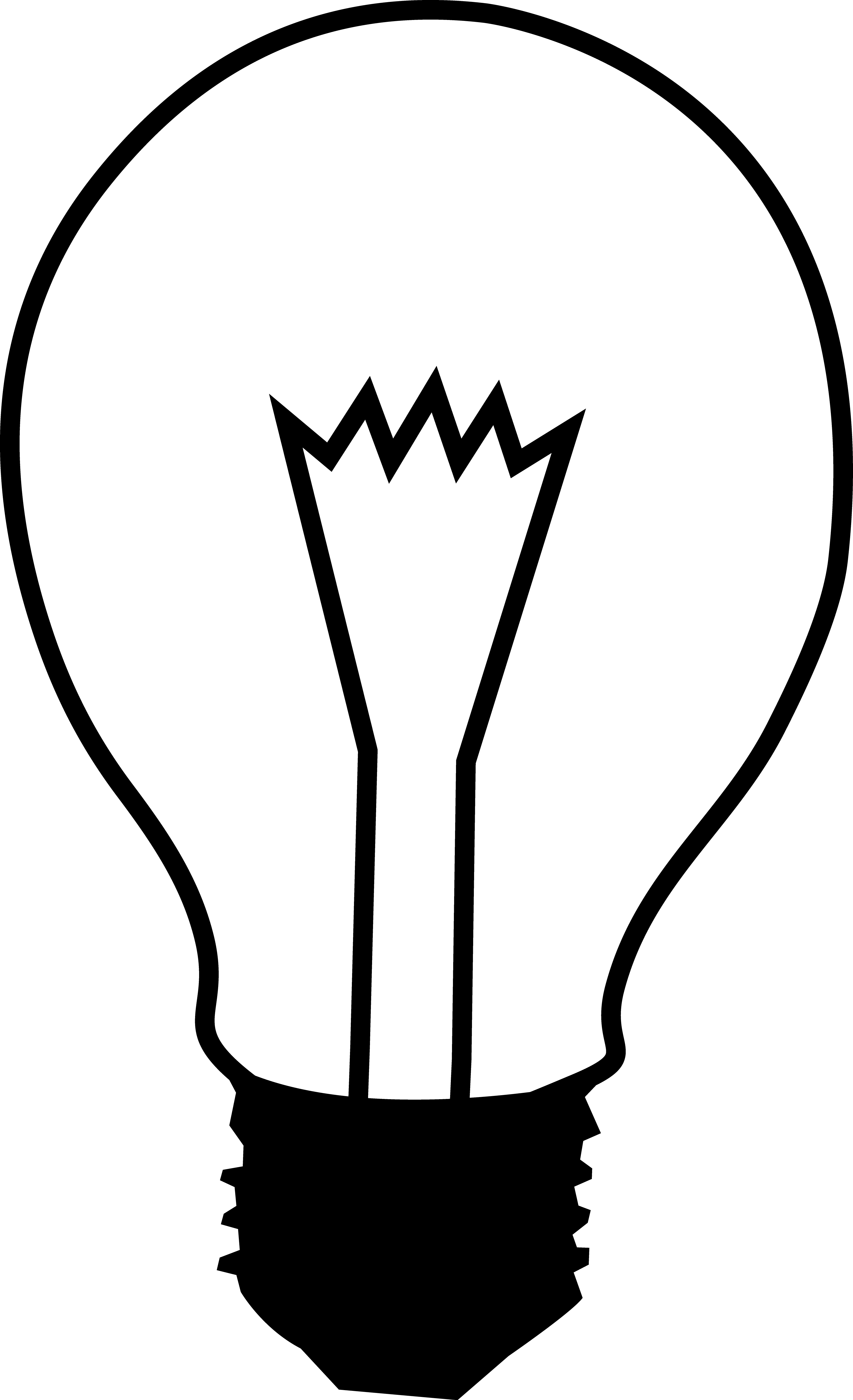 3629x5957 Simple Black And White Light Bulb