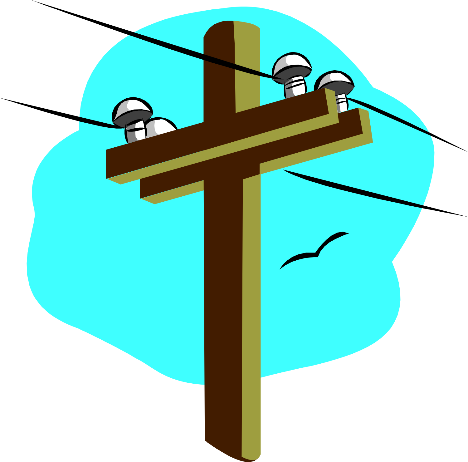 1500x1480 Electrical Clipart Electricity Post