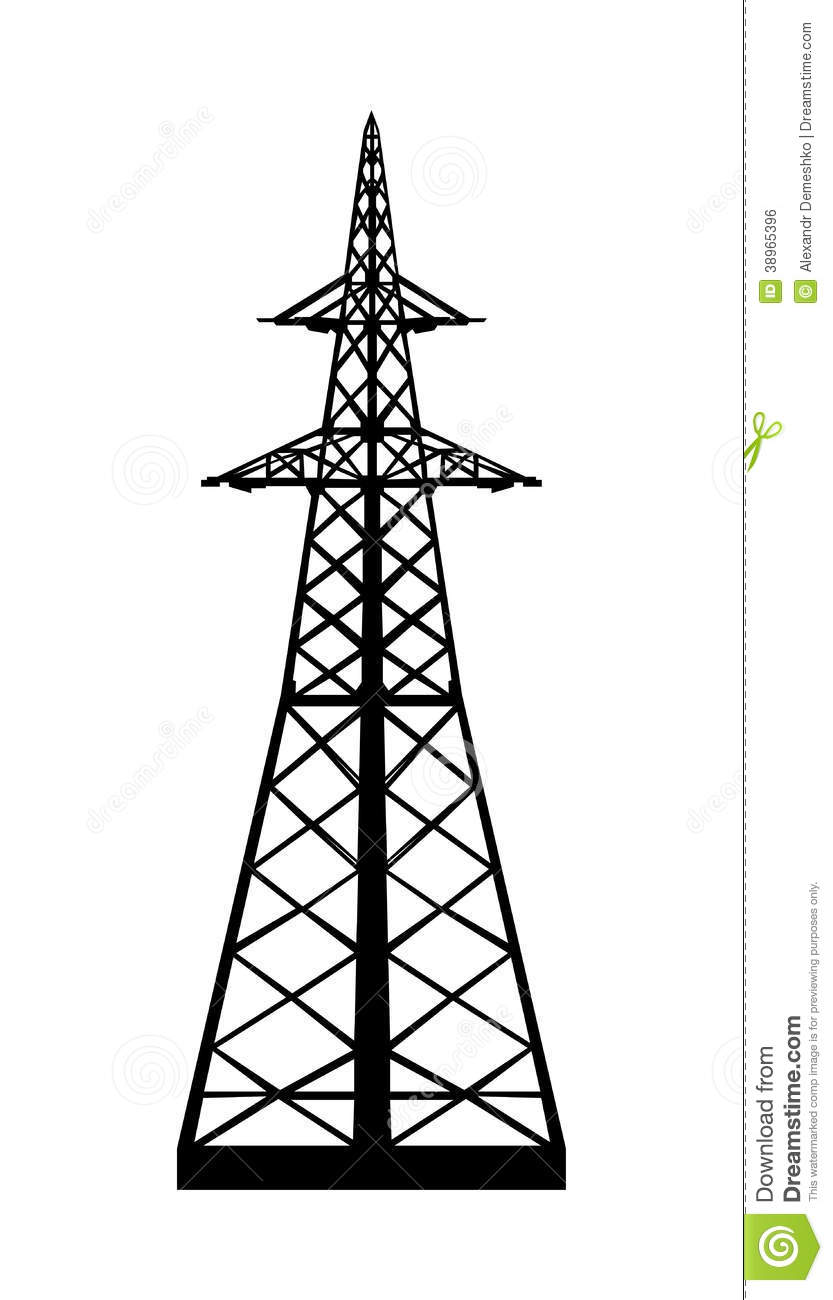 833x1300 Electrical Tower Clipart