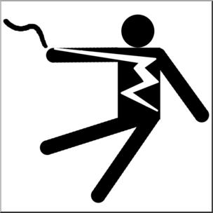 304x304 Clip Art Electricity Electrical Hazard Symbol 1 Bampw I Abcteach