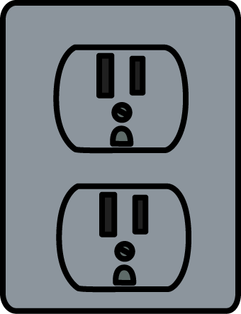 340x443 Silver Electrical Outlet Clip Art