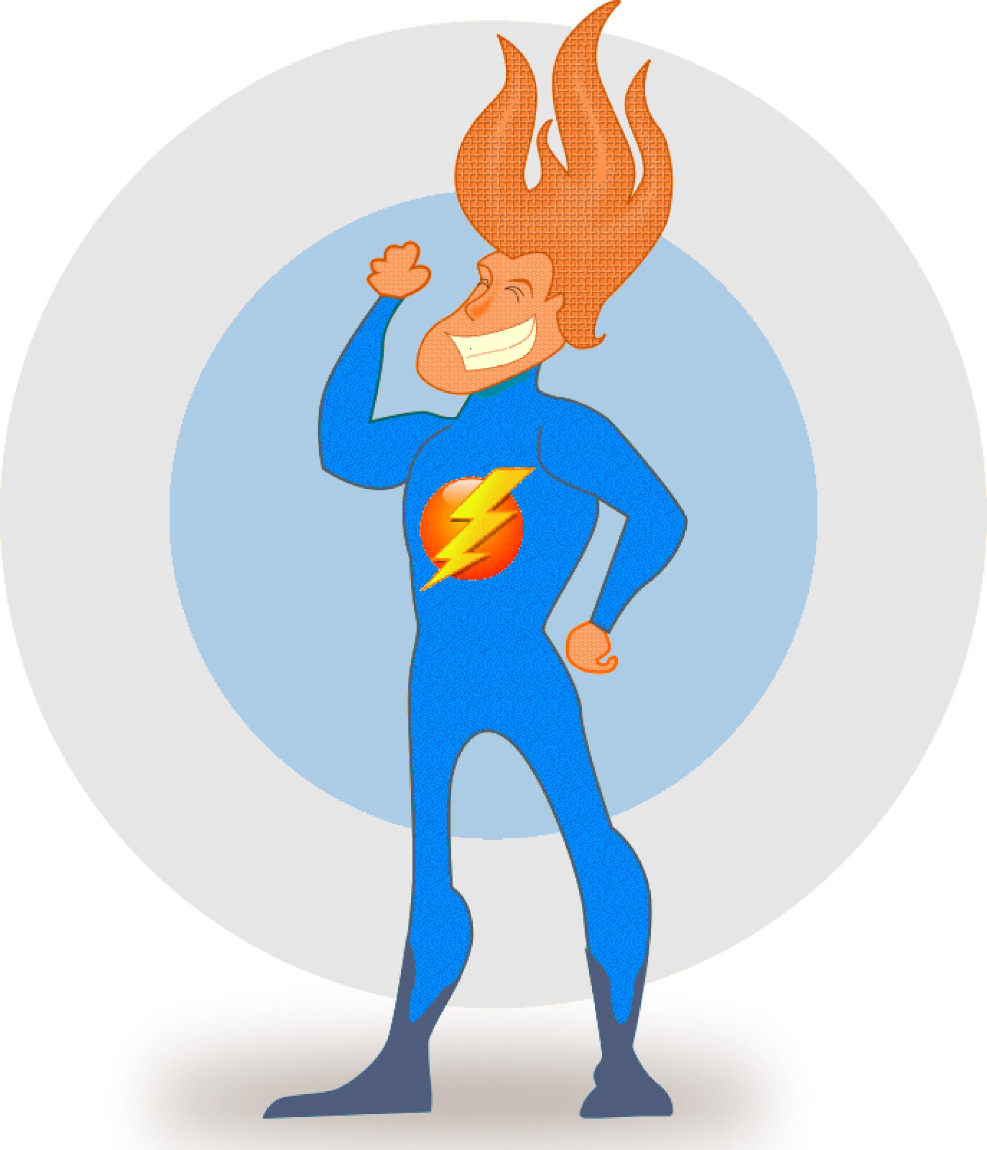1979x2305 Clip Art Elektrick Man Superhero Electrical